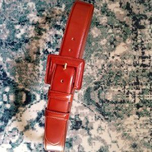 Ann Taylor Deep Brown Leather Belt Size S